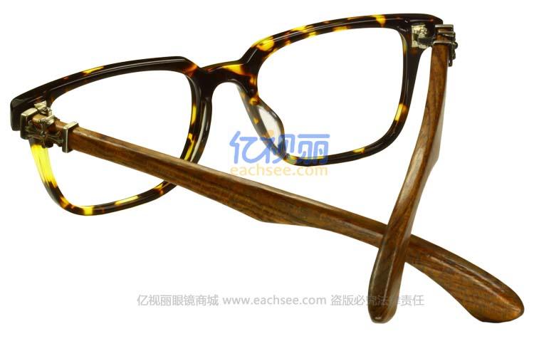 潮人复古玳瑁棕色全框眼镜框