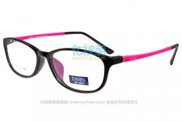 亚虎娱乐手机网页版_真维斯_MX362 C7-8_TR90_黑色_超轻_女士全框眼镜框