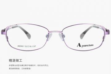 亚虎娱乐中心pt_雅格奥斯_A6060 C22_女士紫色高档合金_全框眼亚虎娱乐中心pt