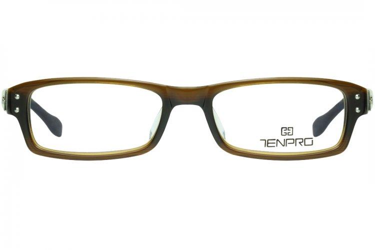 亚虎娱乐中心pt_淡泊TENPRO_T-4025 C02_进口板材_郑伊健代言_棕色_男女通用全框眼镜框