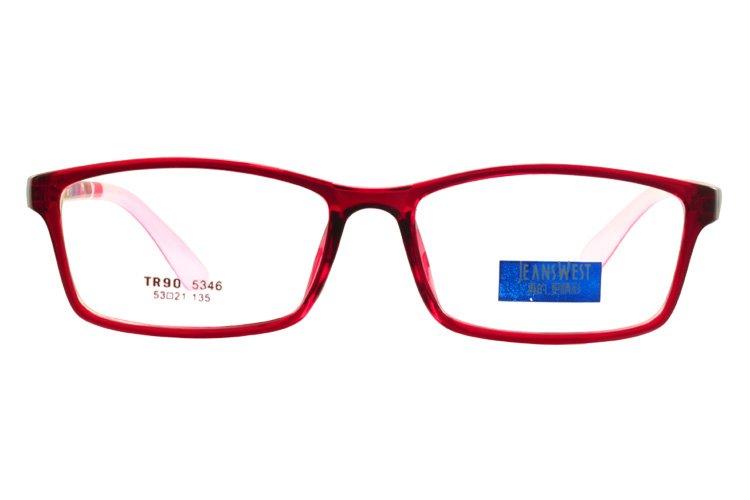 亚虎娱乐官网登入_真维斯_5346 C13_TR90_红色_超轻_女士全框眼镜框
