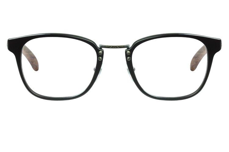亚虎娱乐手机网页版_佐川藤井_7464D C01_手造板材+纯木腿_男士复古黑色全框眼镜框