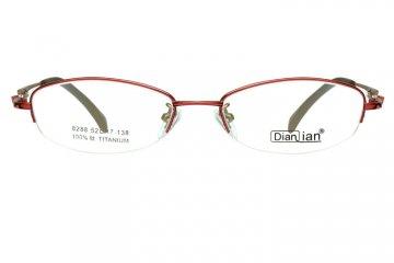 亚虎娱乐手机网页版_点倩_8288_纯钛_女士红色(商务款)半框眼镜框