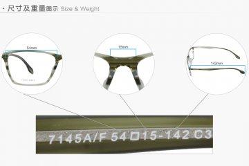 亚虎娱乐中心pt_派柏雷兹_7145A/F C3_超轻板材_潮人时尚男女通用透渐变绿色全框眼镜框
