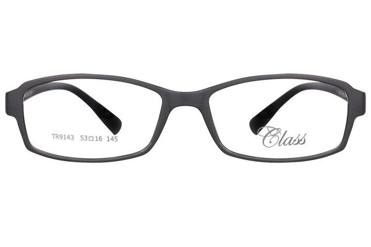 亚虎娱乐中心pt_可拉斯Class(韩国)_TR9143 C1A_TR90_超轻男士哑黑色眼镜框