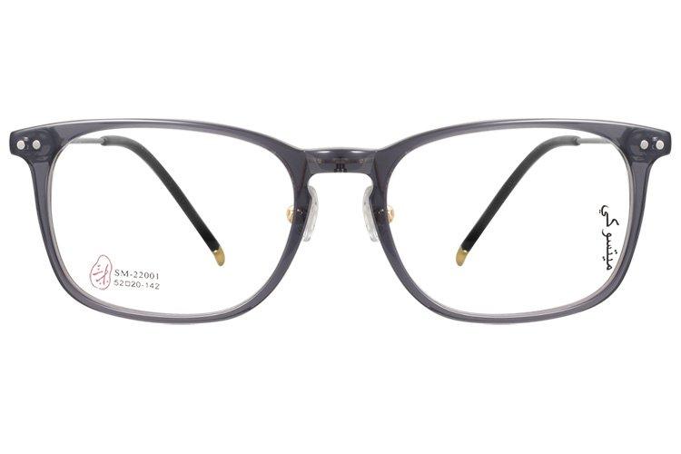 亚虎娱乐中心pt_三木_SM-22001 C6_手造板材+高级合金_潮人复古灰色全框眼镜框