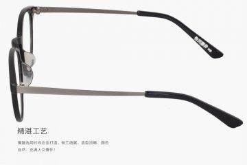 亚虎娱乐官网登入_佐川藤井_50153 C01_手造板材+高级合金_潮人复古黑色全框眼镜框