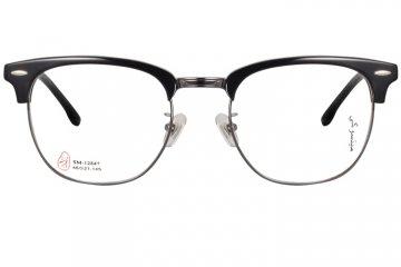 亚虎娱乐中心pt_三木_SM-12847 C1_手造板材_潮人复古黑色全框眼镜框
