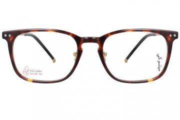 亚虎娱乐手机网页版_三木_SM-22001 C4_手造板材+高级合金_潮人复古玳瑁色全框眼镜框