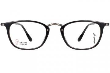 亚虎娱乐官网登入_三木_SM-12958 C1_手造板材+高级合金_潮人复古黑色全框眼镜框
