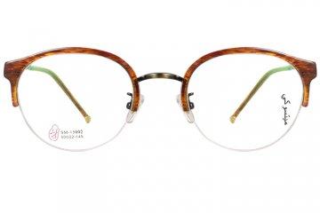 亚虎娱乐中心pt_亚虎娱乐手机网页版_亚虎娱乐官网登入_三木_SM-15002 C3_手造板材+高级合金_潮人复古彩纹半框眼镜框