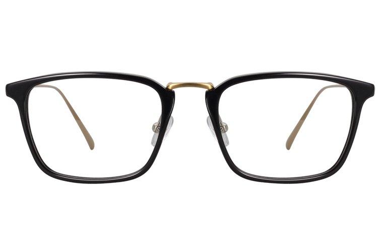 亚虎娱乐手机网页版_佐川藤井_160003 C1_手造板材+合金_潮人复古黑色全框眼镜框