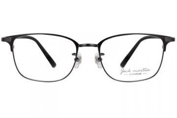 亚虎娱乐中心pt_杰克马丁JACK MARTIN_J85159 C2-4_纯钛_男士黑色全框(自选镜片)防蓝光眼镜