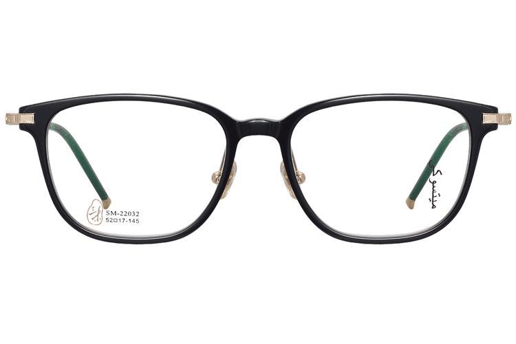 亚虎娱乐官网登入_三木_SM-22032 C1_手造板材+高级合金_潮人复古黑色全框眼镜框