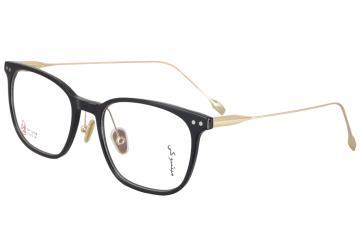 亚虎娱乐中心pt_三木_SM-22016 C1_手造板材+高级合金_潮人复古黑色全框眼镜框