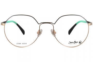 亚虎娱乐官网登入_佐罗ZOLO_Z7089 C1_金色高档合金+TR90_女士全框眼镜框