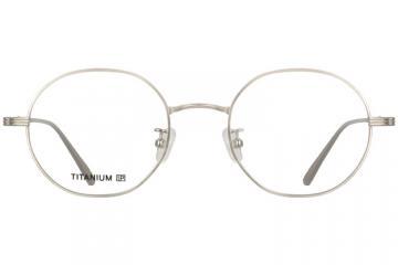 亚虎娱乐手机网页版_佐川藤井_TI17025 C4_精品系列_高档纯钛_潮人复古银色全框眼镜框