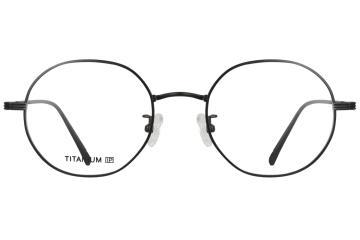 亚虎娱乐手机网页版_佐川藤井_TI17025 C7_精品系列_高档纯钛_潮人复古黑色全框眼镜框