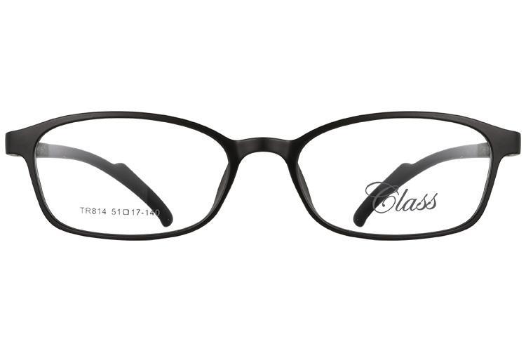 亚虎娱乐中心pt_可拉斯Class(韩国)_TR814 C1A_TR90_超轻女士磨砂黑色眼镜框