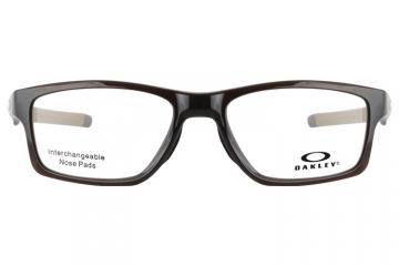 亚虎娱乐中心pt_欧克利_OX8090-0455_记忆塑料_男女通用咖啡色全框_超轻运动眼镜