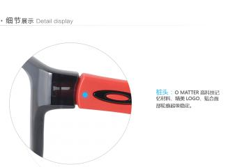 亚虎娱乐手机网页版_欧克利_OX8091-0355_记忆塑料_男女通用亮黑色全框_超轻运动眼镜