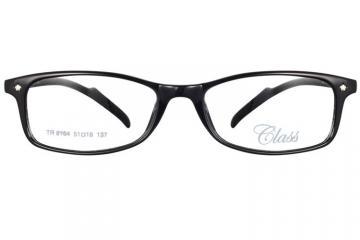 亚虎娱乐中心pt_可拉斯Class(韩国)_TR9164 C1_TR90_超轻男士亮黑色_平光防蓝光眼镜(含明月防蓝光镜片)