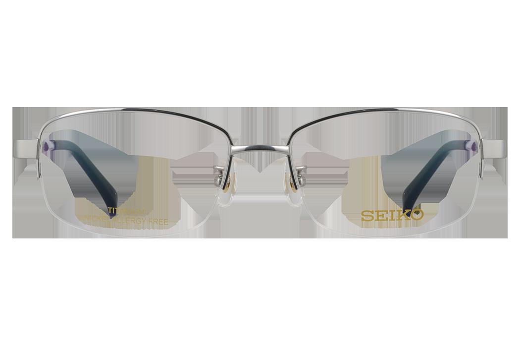 精工SEIKO_HC-1027 02_β钛_银钯色商务半框眼镜架