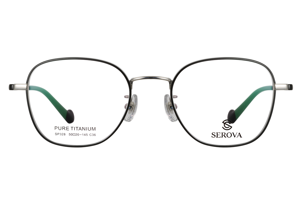 施洛华_SP328 C36_豪华纯钛_女士黑色全框(休闲时尚)眼镜架