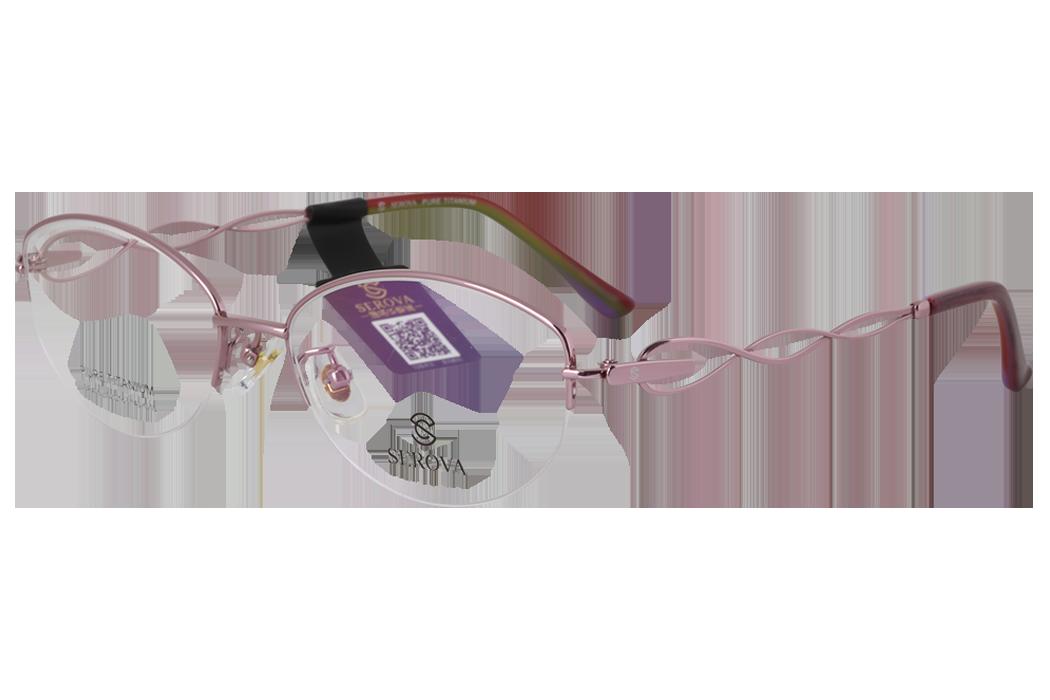 施洛华_SP405 C15_豪华纯钛_女士紫色半框(商务款)眼镜架